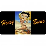 Betty Boop Metal License Plate Honey Buns Design